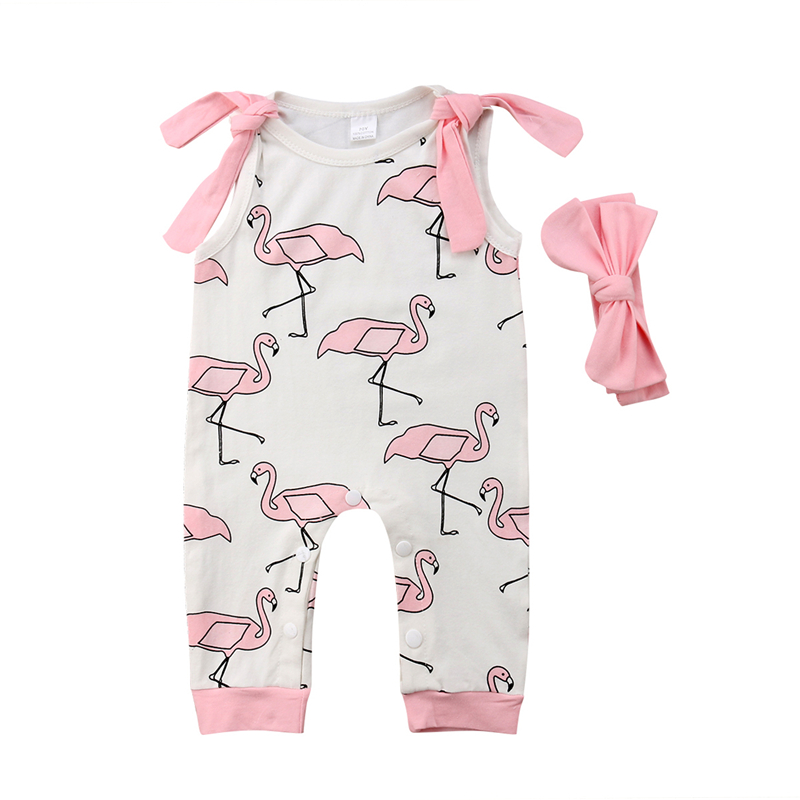 Cute Newborn Baby Girl Floral Strap Romper Jumpsuit Sunsuit Kids Girls Summer Bowknot Sleeveless Rompers Playsuit 2PCS Clothes
