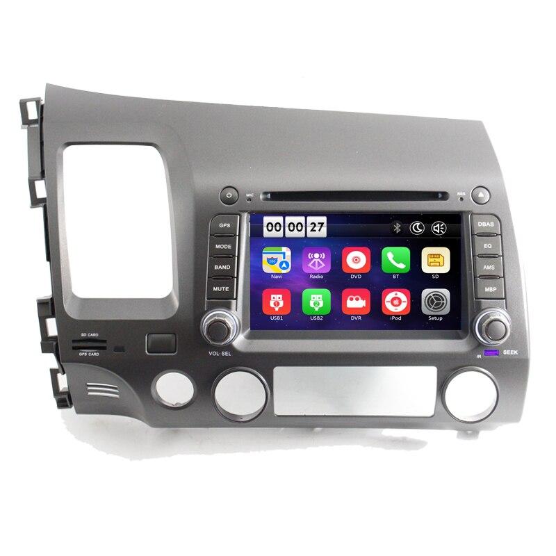 8 дюймов 1024*600 HD 2 Din Автомобильный dvd плеер gps система для Honda Civic 2007 2008 с 3g WiFi OBD 2 DAB зеркальное соединение цифрового ТВ