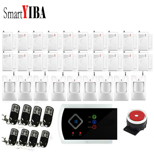 SmartYIBA Wireless Home Security font b Alarm b font System Kit with Auto Dial Android IOS