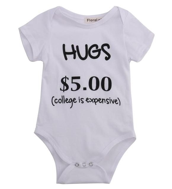 9590b6f56 Baby boy girl Letters Printed Bodysuit
