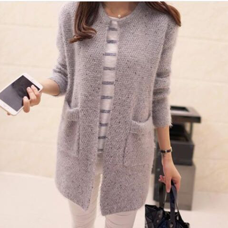 Women's Clothing Cardigans 3d Ball Grey Pearl Knitted Sweater Long Cardigan Pull Femme Warm 2018 Autumn Sweater Pink Yellow Knitwear Outwear 66651 In Short Supply