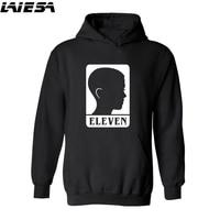 LIESA Streetwear Sweatshirts Men Stranger Things Hooded Oversized Hoodies Winter Hip Hop Sweatshirt Eleven Stranger Thing