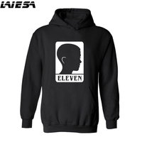 LIESA Streetwear Sweatshirts Men Stranger Things Hooded Oversized Hoodies Winter Hip Hop Sweatshirt Eleven Stranger Thing
