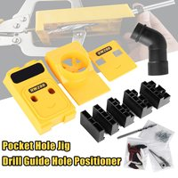High Quality Pocket Hole Jig Drill Guide Hole Positioner Locator Woodworking Tool Kit Suitable For Joining
