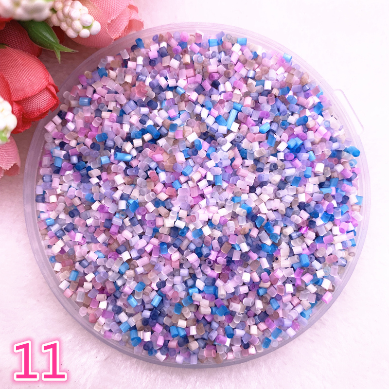 Glass-Bugle-Beads Jewelry-Making Long-Tube Czech Two-Hole European-Seed for -11 800pcs/Lot title=
