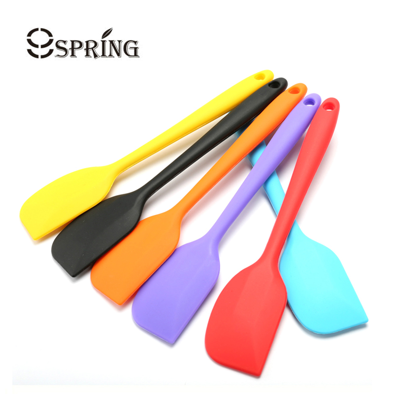 Colorful Kitchen Silicone Spatula Rubber Baking Scraper ...