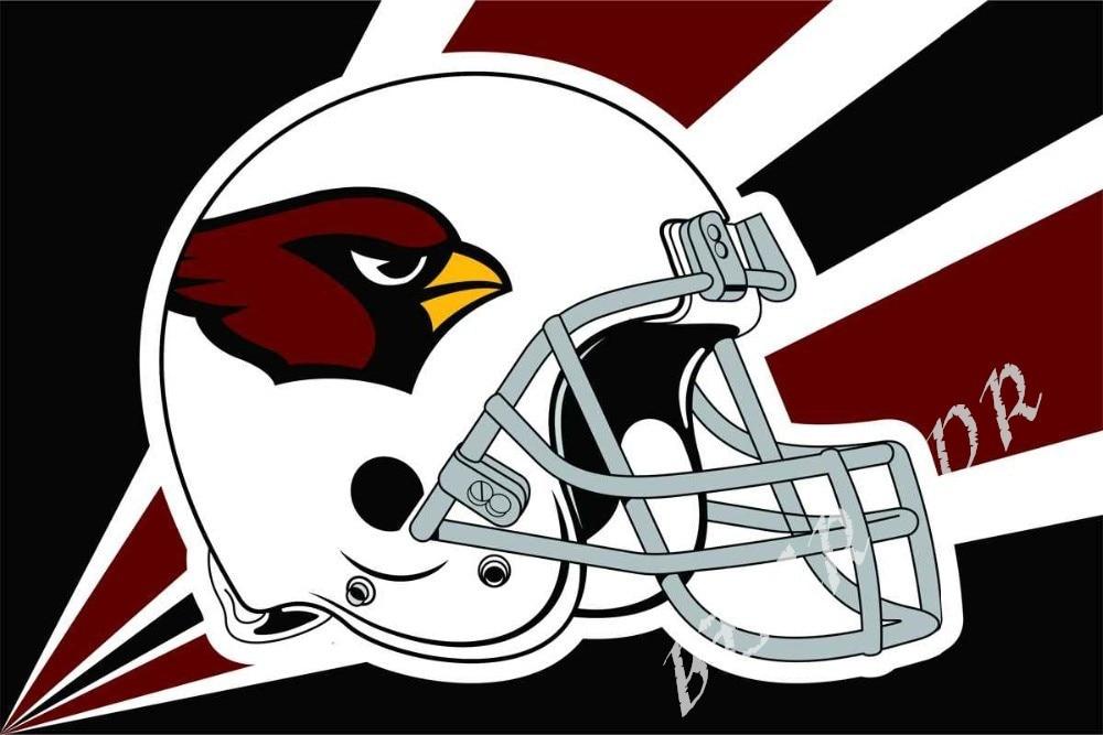 NFL Arizona Cardinals flag 3ftx5ft Banner 100D Polyester Flag metal Grommets