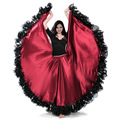 2017 Professional Belly Dance Costume Waves Skirt Dress 25 Yard Big Skirt Bollywood