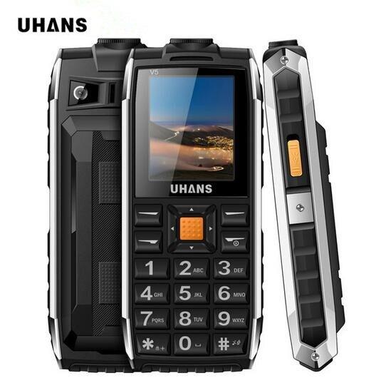 Uhans V5 life Waterproof shockproof phone Power bank Dual sim GSM cellphone 2500Mah Big box speaker