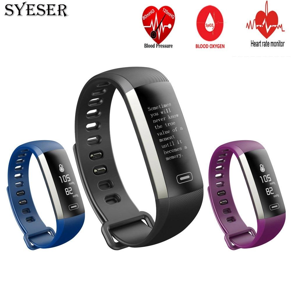 SYESER New M2 Smart Band Blood Pressure Oxygen Fitness Bracelet Heart