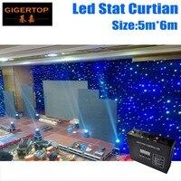 Super Prijs 5 M * 6 M Gratis Verzending Groothandel LED RGB Star Gordijn LED Backdrops Korting Wedding Achtergrond met 7DMX Kanalen