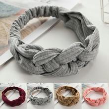 Summer Bohemian Style Hairbands Print Headbands For Women Retro Cross Knot Turban Bandage Bandanas Women Hair Accessories цена и фото