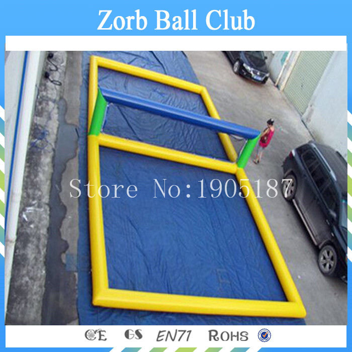 Free Shipping Inflatable Volleyball Court,Outdoor Inflatable Beach Games/Inflatable Water Volleyball Court For Seaside free shipping 12 6 inflatable water sports games inflatable volleyball field inflatable beach volleyball field free a pump