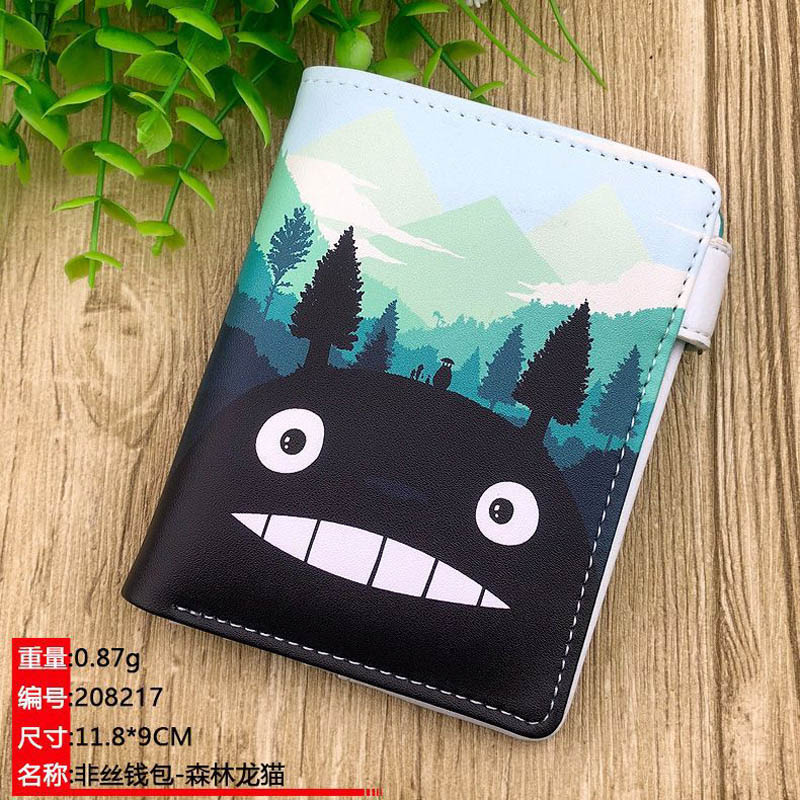 My Neighbor Totoro Japanese Anime Short Wallet Synthetic Leather Coin Purse Card Holder Money Bag For Youths & Teens