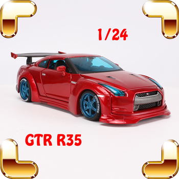 New Coming Gift GTR R35 1/24 Alloy Model Car Racer Version Metal Model Vehicle Collection Edition Cool Static Simulation Scale
