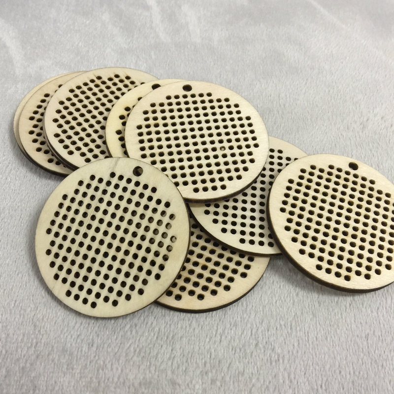 50 pcs Small Wooden Jewelry Blanks Round in Wood DIY Crafts from Home Garden