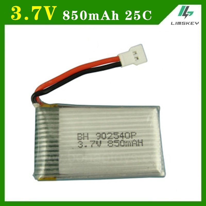 <font><b>3.7v</b></font> <font><b>850mAh</b></font> 25c for Syma X5C lithium polymer <font><b>battery</b></font> Flygt special <font><b>Lipo</b></font> <font><b>battery</b></font> 902540 free shipping image