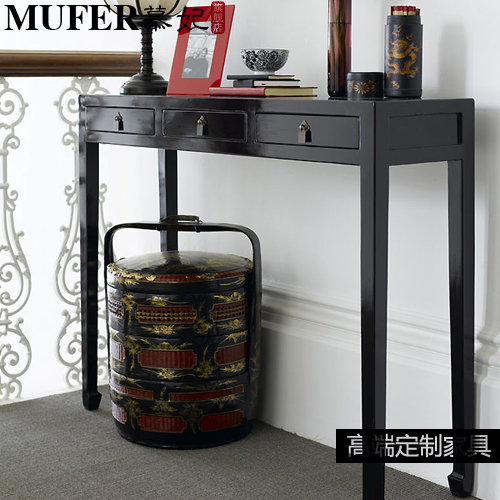 Chinese Side Table.Custom Black Side Table Leisure Table Modern Classic Furniture