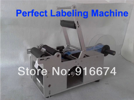 Fast Free shipping HOT Semi-Automatic Round Bottle Labeling Machine Labeler Packaging Equipment