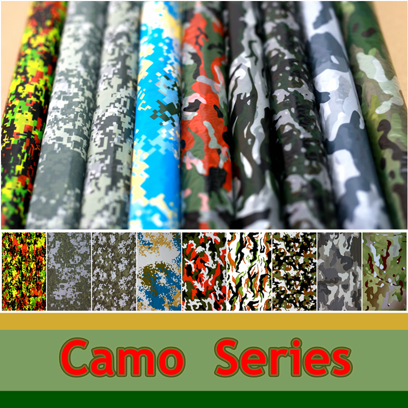 0.5 m breed Camouflage Serie Hydrografische Film Aqua Print Films voor Motorfiets / auto / woondecoratie Water Transfer Printing Film