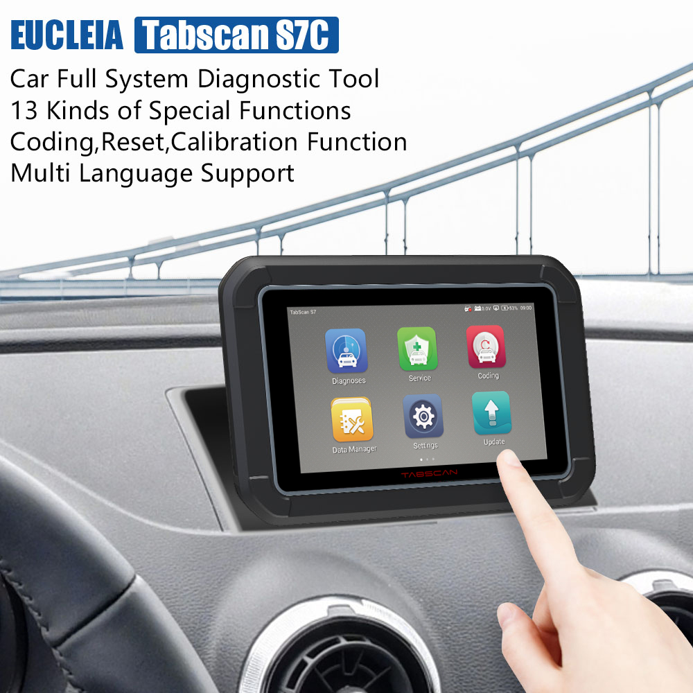 Image 2 - EUCLEIA TabScan S7C OBD 2 Automotive Scanner Professional Car Diagnosis DPF EPB TPMS Oil Service Reset ODB2 Car Diagnostic Tool-in Engine Analyzer from Automobiles & Motorcycles on
