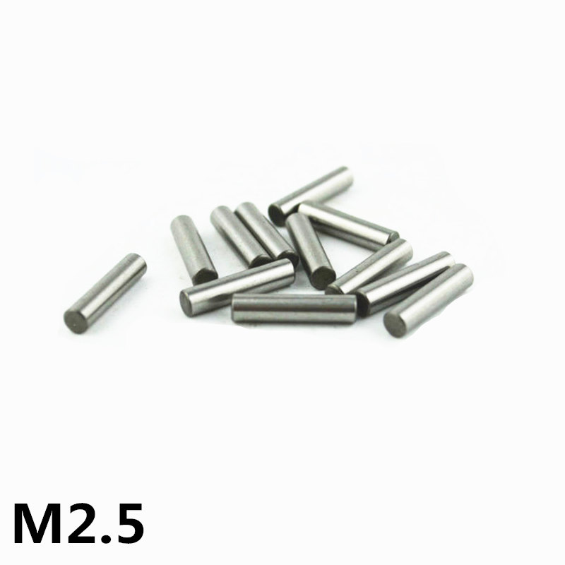 100pcs 2.5 Mm Bearing Steel Cylindrical Pin Locating Pin Needle Roller Thimble Length 2.5 4 5 6 7 8 10 11 12 14 16 18 20-40 Mm