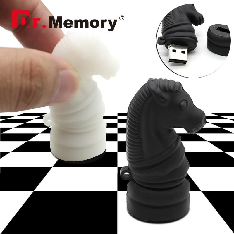 Dr.memory USB flash drive 64gb horse pendrive 32gb International Chess flash card 16gb creative Children gift pen drive 8gb disk