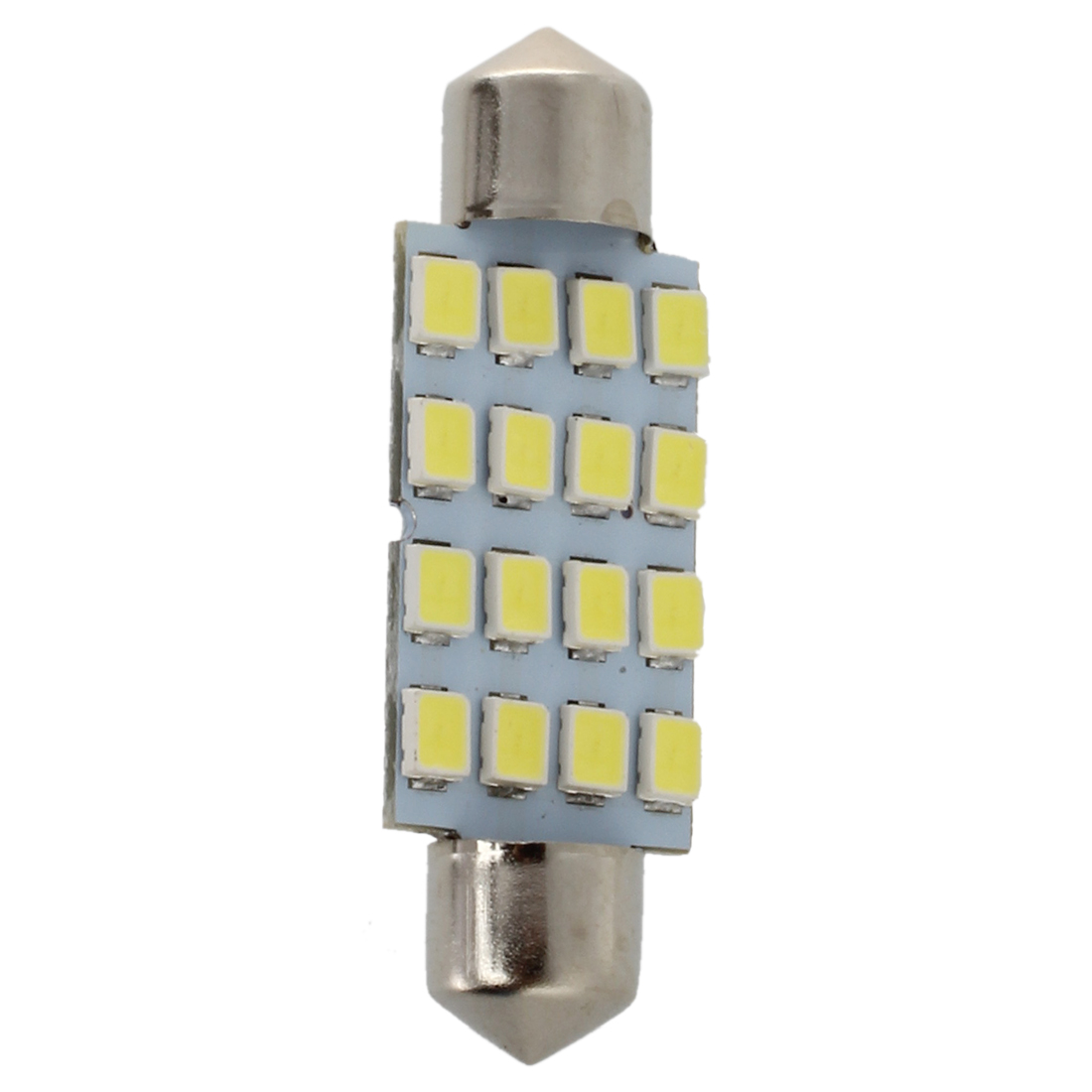 10x <font><b>42mm</b></font> 16 <font><b>LED</b></font> Interior White SMD 3528 Dome Light Lamp <font><b>Bulb</b></font> 211-2 578 212-2 image