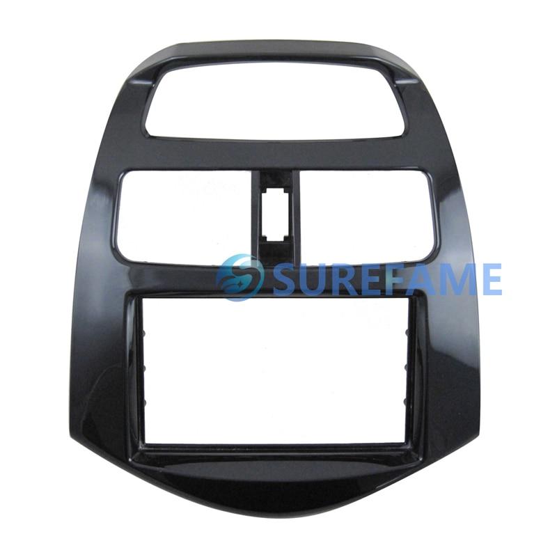Double Din Car Fascia Adaptor for Chevrolet Spark Beat Daewoo Martiz 2012 Face Frame Kit Cover