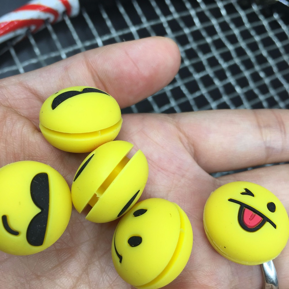 5pcs Stereo Grimace Tennis Damper Shock Absorber To Reduce Tenis Racquet Vibration Dampeners