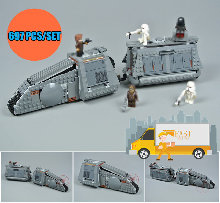 New Star fighter Imperial Conveyex Transport fit legoings star wars figures city Building Blocks Bricks diy Kids Toy 75217 Gift