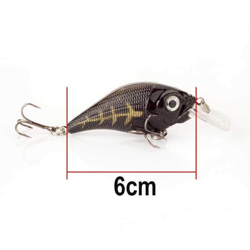 Minnow Richiamo di Pesca di profondità di Immersione 0-0.6 metri 6 cm 10.5g Manovella Esca Dura Esche artificiali Wobblers Bass Giappone fly Accessori Per la Pesca
