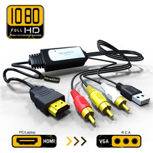 NewBEP High Quality HDMI to RCA Cable HDMI to AV Converter Converts Digital HDMI signal to Analog 3RCA/AV for XBOX 360/PC/DVD