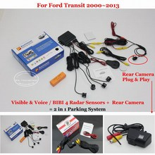 For Ford Transit 2000~2009 2010 2011 2012 2013 Car Parking Sensor Sensors Auto Rear View Back Up Alarm System Reverse Camera