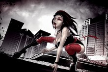 artwork fantasy art female vampires dark style sexy girl blood mouth AT046 Living room Home wall modern art Decor Canvas Poster