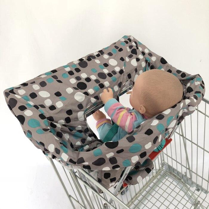 5 цветов Материал персиковый; кожа, вельвет Стандартный детский размер, корзина для покупок, стульчик для кормления и удобные корзину Обложка для младенцев и детей ясельного возраста - Цвет: Blue dot