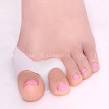 5 Pair Silicone Gel Foot Two Hole Toe Separator Thumb Valgus Protector Corrector Bunion Adjuster Hallux Valgus Guard Feet Care
