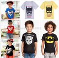 2015 New Design Tops Tees Boys Spiderman T-shirts 100% Cotton Kids Summer t-shirt Baby Printed tshirts Children Cartoon Clothing