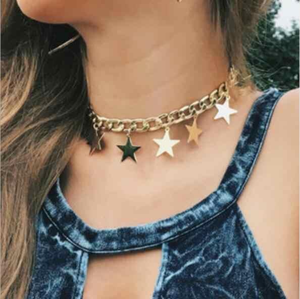 Seblasy Nova Moda Multi Layer Infinito Estrela Cadeia de Borla Colares & Pingentes de Cristal da Mão de Hamsa para As Mulheres Presentes Jóias Femme