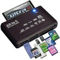 Todo en Uno USB Lector de Tarjetas de Memoria XD CF M2 MMC SDHC SD Mini Micro Externa Negro Alta Calidad