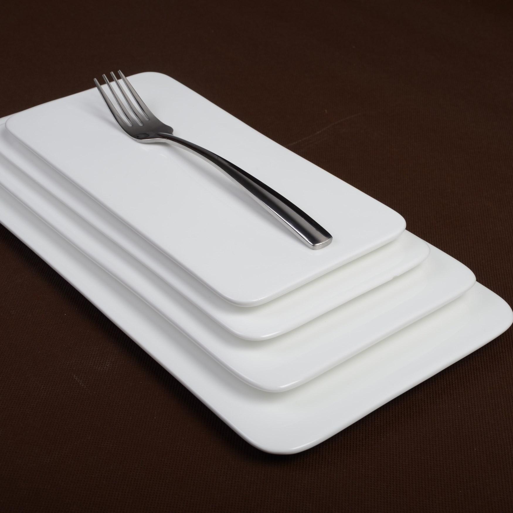 12u0027u0027 14u0027u0027 16 Inch Ceramic Porcelain White Rectangular Flat Steak Plate Dinner Pan Western Style Fruit Sushi Plates Serving Dish-in Porcelain Plates from ... & 12u0027u0027 14u0027u0027 16 Inch Ceramic Porcelain White Rectangular Flat Steak ...