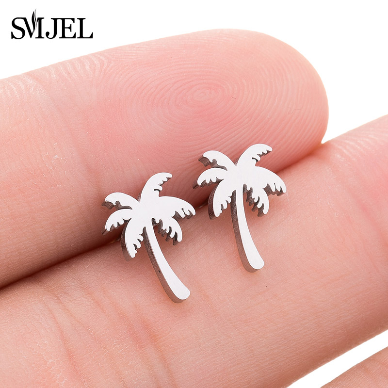 SMJEL Fashion Women Coconut Palm Tree Earrings Summer Holiday Hawaii Earring Boho Jewelry Gift Girls Beach Earings aretes