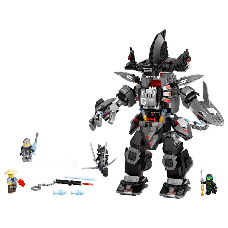 WAZ Compatible Legoe Ninjagoes 70613 Lepin 06060 Ninjago Movie Garma Mecha Man Figure building blocks Bricks toys for children lepin 06037 compatible lepin ninjagoes minifigures the lighthouse siege 70594 building bricks ninja figure toys for children