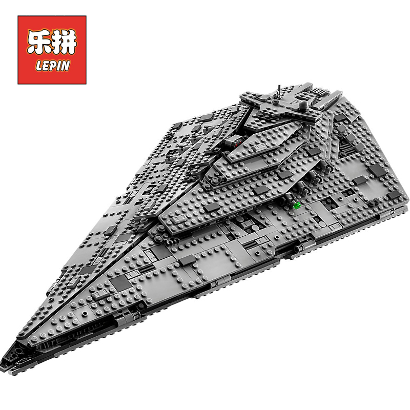 Lepin Star Plan Wars 05131 Starwars the First order Star Model Destroyer Set 75190 Legoingly Building Blocks Bricks Toy DIY Gift new 845pcs star wars first order transporter model building blocks bricks toys compatible with legoingly starwars children model