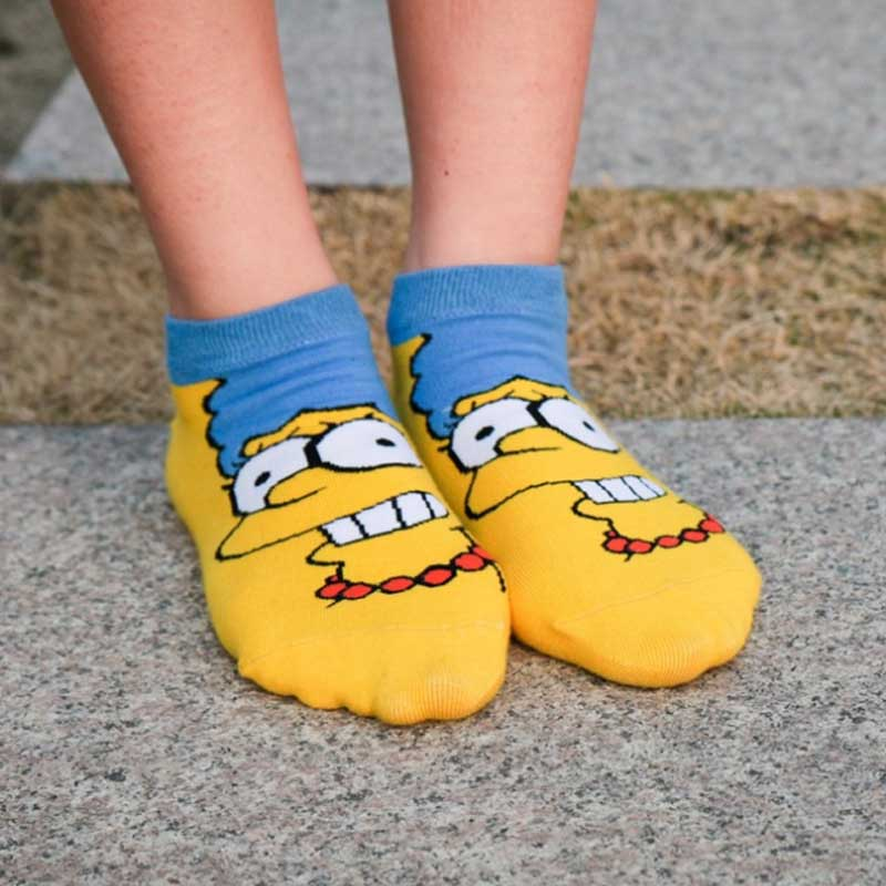 Leisure Fshion Motion Straight Short Sock Cartoon Anime Shallow Mouth Breathable Comfortable Women Short Sock