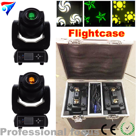 Free Shipping (2pcs/CASE) Free Shipping Professional Sound Disco Led Moving 90w Moving Head Gobo Light