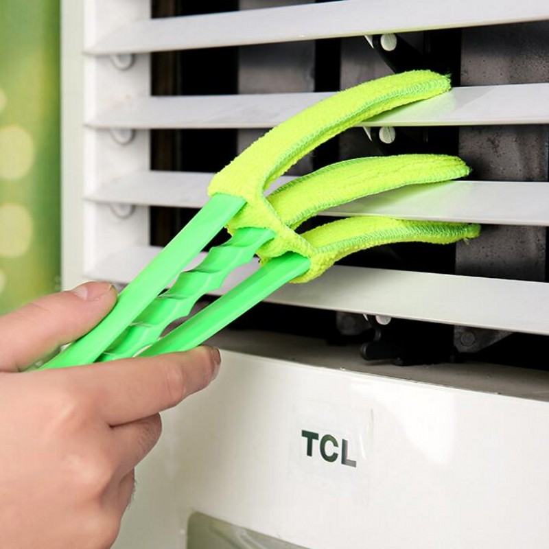 Creative Portable air Conditioner Multifunctional Cleaning Brush Handle Washable Microfiber Kitchen Cleaning Utensils
