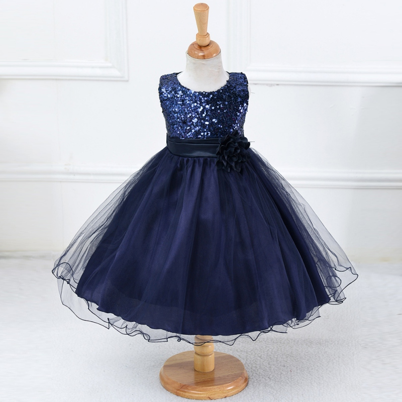3-15Y Girls Dresses Children Ball Gown Princess Wedding Party Dress Girls Summer Party Clothes New!