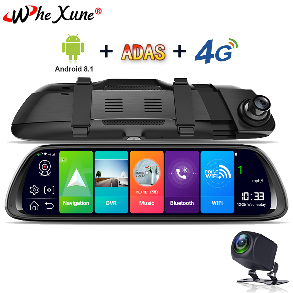 WHEXUNE Car-Dvr Cam-Recorder Camera Media Gps-Mirror Android-Stream Dash 1080P FHD New