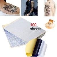 100 pcs Tattoo Stencil Transfer Copier Paper Sheets A4 Carbon Thermal Tracing plak tattoo One time tattoo sticker hot sale